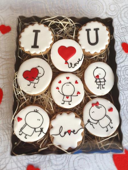Paquet gran de galetes de Sant Valentí